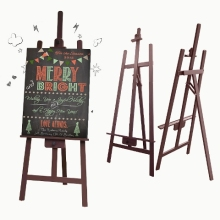 Brown Solid Wood Easel Stand