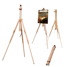 Compact wood easel stand
