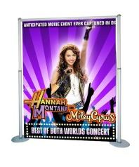 Easy backdrop banner display