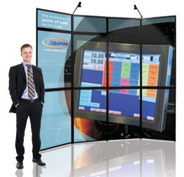 folding panel display system