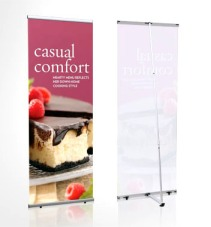 Metal L Banner Stand
