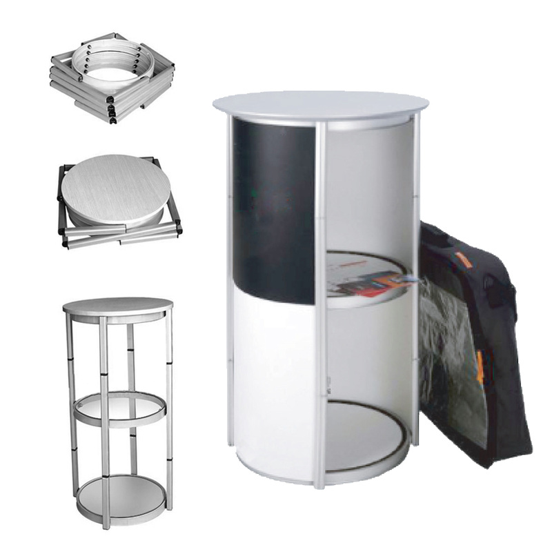 PVC Counter Booth Table Display System Supply