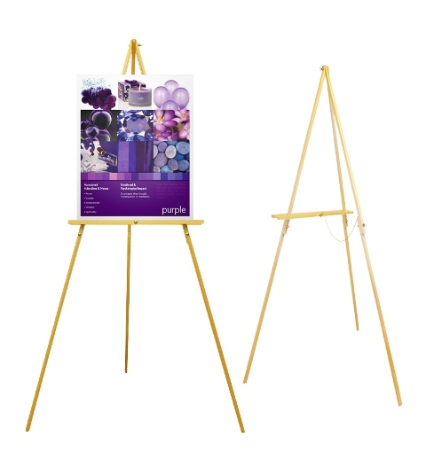 slim wood easel stand slim wood easel stand max board height 80cm ...
