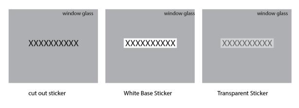 sticker -option